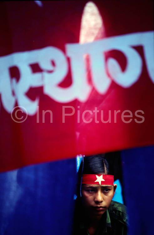 A female Maoist fighter, Dolakha district, Nepal