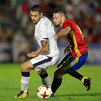 Spain's Alfonso (r) and Italy's Pezzella during international sub 21 friendly match. September 1,2017.(ALTERPHOTOS/Acero)