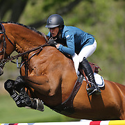 Molly Ashe riding Cat Ballou in action during the $100,000 Empire State Grand Prix presented by the Kincade Group during the Old Salem Farm Spring Horse Show, North Salem, New York,  USA. 17th May 2015. Photo Tim Clayton