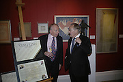 GODFREY BARKER AND SIR PETER PALUMBO, Spear's Wealth Management High-Net-Worth Awards. Sotheby's. 10 July 2007.  -DO NOT ARCHIVE-© Copyright Photograph by Dafydd Jones. 248 Clapham Rd. London SW9 0PZ. Tel 0207 820 0771. www.dafjones.com.