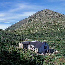 Appalachian Trail.  Mt. Adams and the AMC's Madison Spring Hut.  Madison Springs Hut, NH