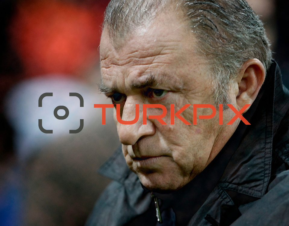 Galatasaray's coach Fatih Terim during their Turkey Cup matchday 3 soccer match Galatasaray between AdanaDemirspor at the Turk Telekom Arena at Aslantepe in Istanbul Turkey on Tuesday 10 January 2012. Photo by TURKPIX