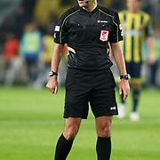 Referee's Aytekin DURMAZ during their Turkish superleague soccer match Fenerbahce between Kardemir Karabukspor at the Sukru Saracaoglu stadium in Istanbul Turkey on Monday 31 October 2011. Photo by TURKPIX