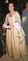 The HON.CAMILLA CECIL  at a party in London on 7th December 1998. MMT 50