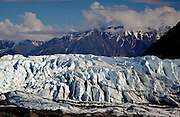 Alaska. Scenic view of Matanuska Glacier as seen form the access overloook just off  the Glenn Highway.