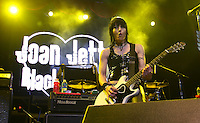 Joan Jett performs at the Sommet Center in Nashville, Tennessee on Friday, August 1, 2008.  (Photo by Frederick Breedon IV) Photo © Frederick Breedon. All rights reserved. Unauthorized duplication prohibited.