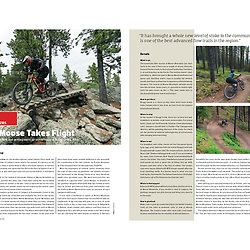Summer 2021 article on 48 hours at Moose Mountain featuring the new Flight 66 jump trail and Bragg Creek