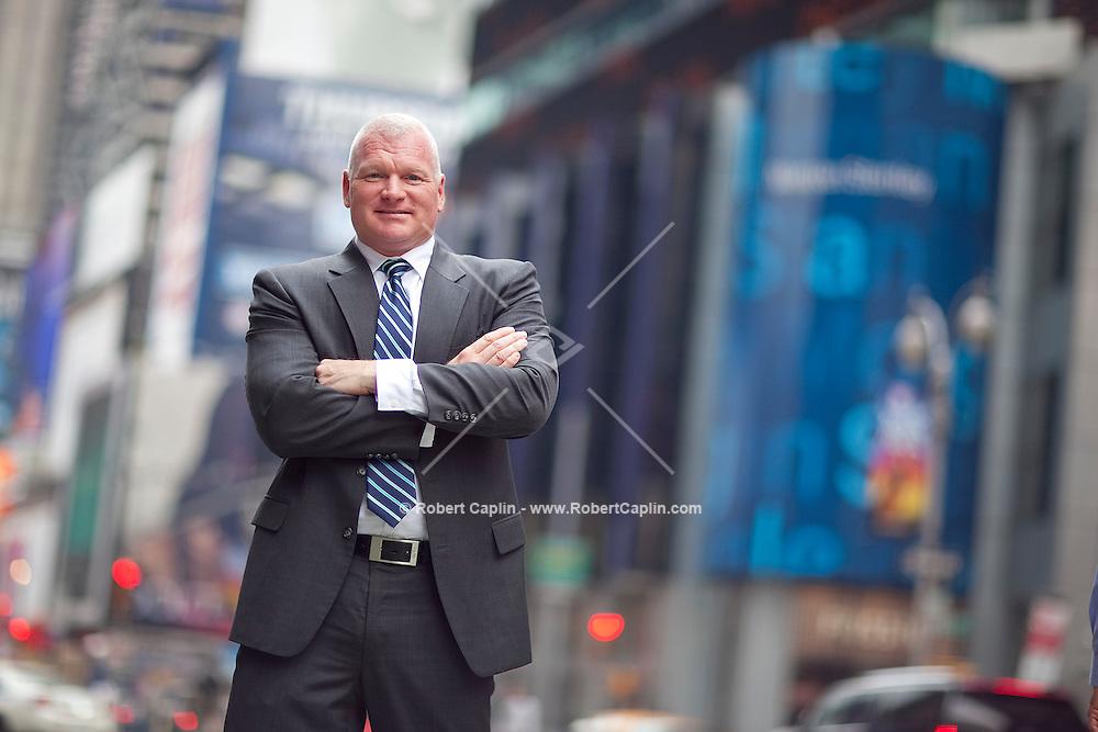 Vaughn Alliton of Morgan Stanley in Times Square, New York. ..Photo by Robert Caplin