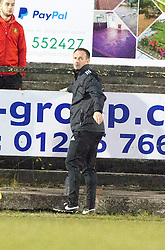 Albion Rover's manager Darren Young after Paul Willis misses their penalty. Albion Rover 1 v 2 Airdrie, Scottish League 1 game played 5/11/2016 at Cliftonhill.