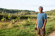 Farmer on his organic farm, Lincoln, MA