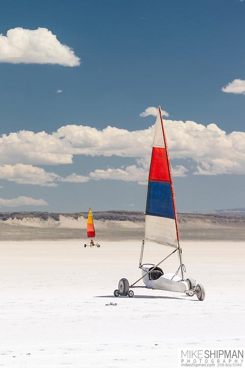 Land sailing, Alvord Desert, south central Oregon