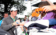 27-07-11:  Rory McIlroy is surrounded by fans looking for autographs after the Irish Open Pro Am at Killarney Golf and Fishing Club on Wednesday. Picture: Eamonn Keogh (MacMonagle, Killarney)