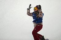 Snowboard , X-Games Oslo <br /> 27. Februar 2016  , 20160226<br /> Snowboard, Big Air Tøyen<br /> Kjersti Østgaard Buaas etter ett <br /> Foto: Sjur Stølen / Digitalsport