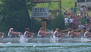 Lucerne, Switzerland. 1995 FISA WC III, Lake Rotsee, Lucerne,<br /> GBR W8+ <br /> [Mandatory Credit. Peter SPURRIER/Intersport Images]<br /> <br /> Image scanned from Colour Negative