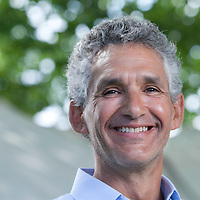 Tim Spector, Professor of Genetic Epidemiology at King's College, London, at the Edinburgh International Book Festival 2015. Edinburgh, Scotland. 21st August 2015 <br /> <br /> Photograph by Gary Doak/Writer Pictures<br /> <br /> WORLD RIGHTS