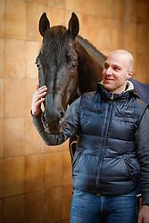Witte Jeroen, (NED), Desperado<br /> Dressuurstal Ad Valk - Gorinchem 2015<br /> © Hippo Foto - Dirk Caremans
