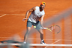 May 3, 2019 - Madrid, MADRID, SPAIN - Rafael Nadal of Spain during the Mutua Madrid Open 2019 (ATP Masters 1000 and WTA Premier) tenis tournament at Caja Magica in Madrid, Spain, on April 28, 2019. (Credit Image: © AFP7 via ZUMA Wire)