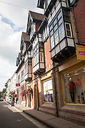 Shops in town of Winchester, Hampshire, England, UK