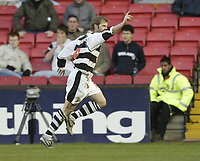 Photo: Aidan Ellis.<br /> Darlington v Swansea City. The FA Cup. 02/12/2006.<br /> Darlington's Martin Smith celebrates his goal