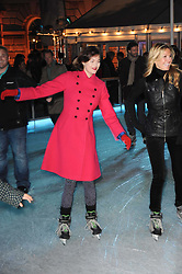 JASMINE GUINNESS skating at a Winter Party given by Tiffany & Co. Europe to launch the 10th season of Somerset House's Ice Skating Rink at Somerset House, The  Strand, London on 16th November 2009.