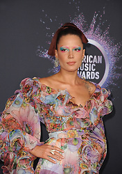 Halsey at the 2019 American Music Awards held at the Microsoft Theater in Los Angeles, USA on November 24, 2019.