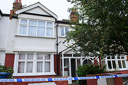 © Licensed to London News Pictures. 15/09/2021. London, UK. The exterior of a property on Leyborne Avenue in Ealing following the death of a 5-year-old girl. A murder investigation has been launched by Metropolitan Police after they were called to the property at 12:56BST on Tuesday, 14 September following concerns for the welfare of the occupants. Police officers and the London Ambulance Service attended. Despite their efforts the girl was pronounced dead at the scene. Photo credit: Peter Manning/LNP