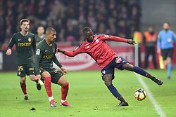 March 15, 2019 - Lille, France, FRANCE - Nicolas Pepe (Losc) vs VAINQUEUR William  (Credit Image: © Panoramic via ZUMA Press)