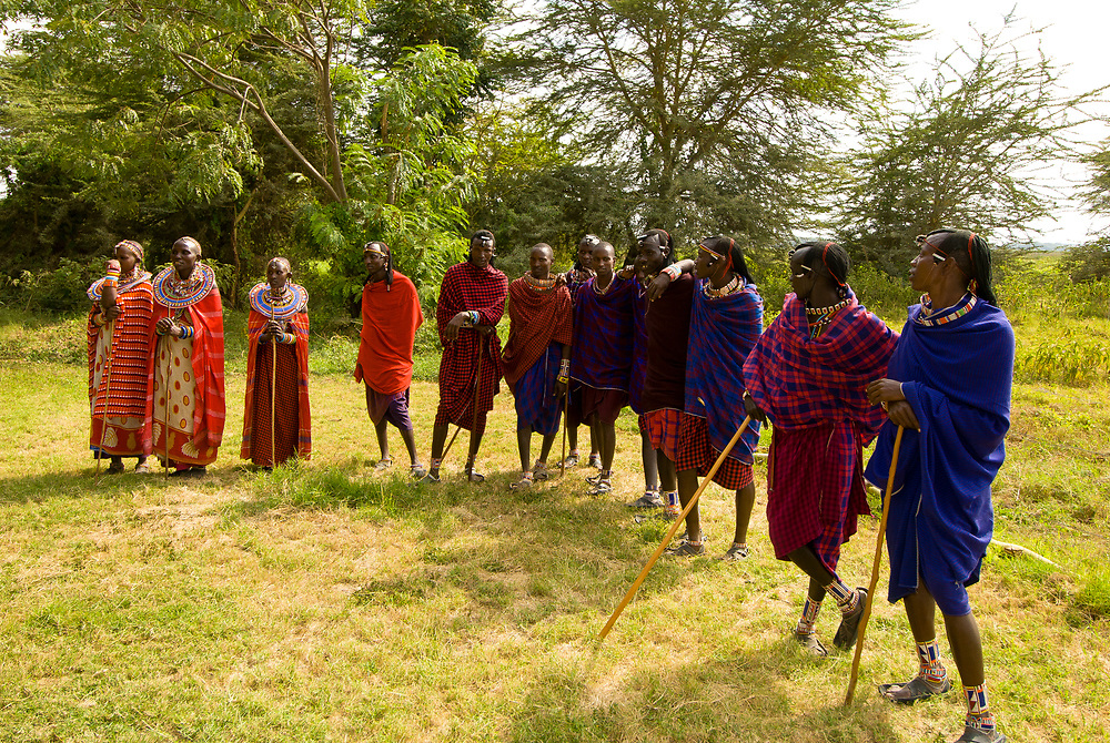 Maasai tribes people, Amboseli National Park, Kenya