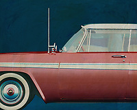 This 1957 painting of a Plymouth Belvedere Sport Sedan exudes such a beautiful design that your interior will be upgraded.<br />