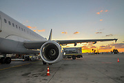 Israel, Ben Gurion international airport at sunset