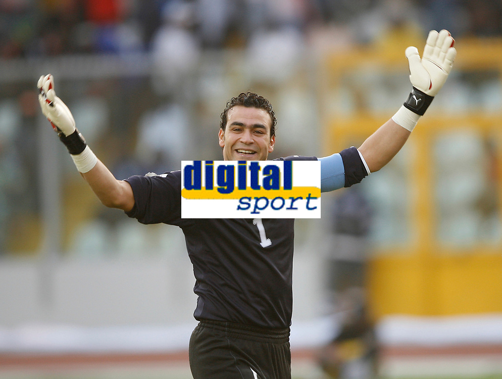 Photo: Steve Bond/Richard Lane Photography.<br /> Egypt v Cameroun. Africa Cup of Nations. 22/01/2008. Kamal El Hadary celebrates the second goal