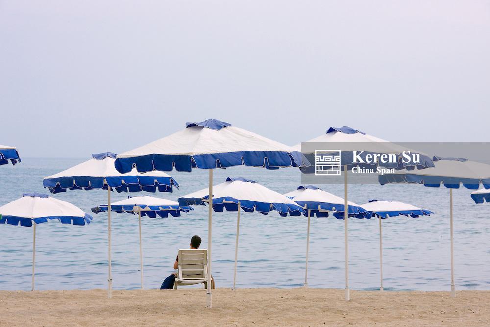 Beach along the Black Sea, Varna, Bulgaria