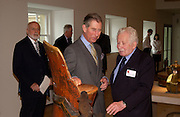 Sir Peter Moores, Prince Charles and Andras Kalman, Official opening Compton Verney, 23 March 2004. ONE TIME USE ONLY - DO NOT ARCHIVE  © Copyright Photograph by Dafydd Jones 66 Stockwell Park Rd. London SW9 0DA Tel 020 7733 0108 www.dafjones.com