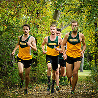 Matt Johnson, Alex Eiswerth and Sean Hooper competes during the annual Cougar Trot on September 17 at Douglas Park. Credit: Arthur Ward/Arthur Images