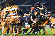 Edinburgh push towards the line for the final try during the Guinness Pro 14 2018_19 match between Edinburgh Rugby and Toyota Cheetahs at BT Murrayfield Stadium, Edinburgh, Scotland on 5 October 2018.