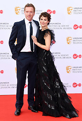 Damian Lewis and Helen McRory attending the Virgin Media BAFTA TV awards, held at the Royal Festival Hall in London. Photo credit should read: Doug Peters/EMPICS