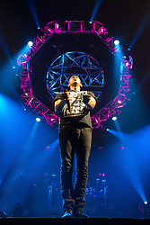 © Licensed to London News Pictures . 01/03/2013 . Manchester , UK . British musician , EXAMPLE ( Elliot Gleave ) , performs at the Manchester Arena on the closing night of his UK tour (1st March 2013) . Photo credit : Joel Goodman/LNP