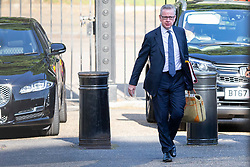 © Licensed to London News Pictures. 25/07/2019. London, UK. Chancellor of the Duchy of Lancaster Michael Gove arrives in Downing Street for the first meeting of the new Cabinet. Later today Prime Minister Boris Johnson will speak in the House of Commons.  Photo credit: George Cracknell Wright/LNP