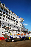 The duck tour and Cruiseships in downtown Ketchikan, Alaska