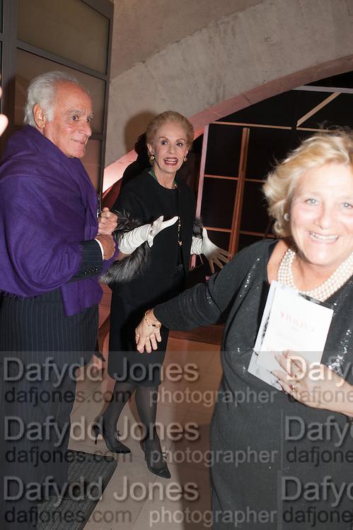 CAROLINA HERRERA; JOHN STEFANIDES,  Valentino: Master of Couture - private view. Somerset House, London. 28 November 2012