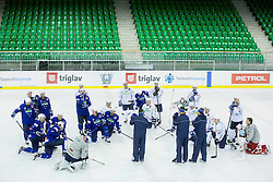 Matjaz Kopitar, head coach with players during practice session of Slovenian National Ice Hockey Team prior to the IIHF World Championship in Ostrava (CZE), on April 21, 2015 in Hala Tivoli, Ljubljana, Slovenia. Photo by Vid Ponikvar / Sportida