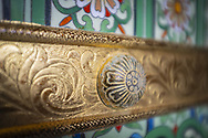 Ornate detail at Buddha Tooth Relic Temple. Chinatown. Singapore