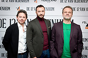 Presentatie De 12 van Oldenheim, een serie van RTL / Videoland.<br /> <br /> Op de foto:  Cas Jansen , Nasrdin Dchar en Reinout Bussemaker
