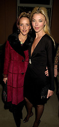 Left to right, MISS CLARE BECKWITH and her sister MISS TAMARA BECKWITH, at a reception in London on 13th November 2000.OJA 117
