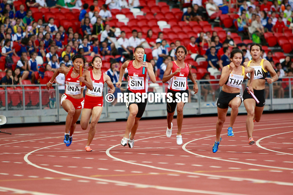 Singapore National athletes at the 2016 Singapore Track and Field Open Championships.