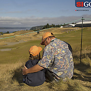 """The US Open is always held on Fathers Day weekend. Photographed for Sports Illustrated's US Open photo essay """"Behind The Open Curtain: Plotting the Course."""" 2 of 8"""