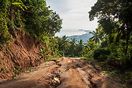 Traveling the rutted road from Haad Yuan Beach and Haad Wai Nam back to the main road on Ko Phangan, Thailand. (June 29, 2017)