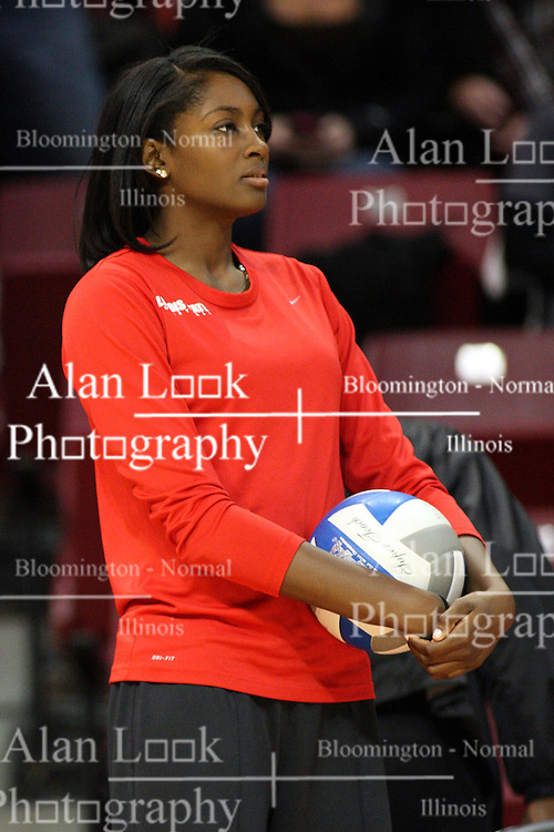 02 November 2012:  Victoria Brown during an NCAA womens volleyball match between the Missouri State Bears and the Illinois State Redbirds at Redbird Arena in Normal IL
