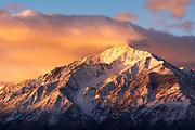 Winter sunrise on Mount Tom, John Muir Wilderness, Sierra Nevada Mountains, California USA