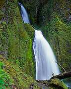 Wahkeena Falls, Columbia River Gorge National Scenic Area, Mount Hood National Forest, Oregon.